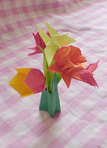Origami Lily With Stem Step By Step